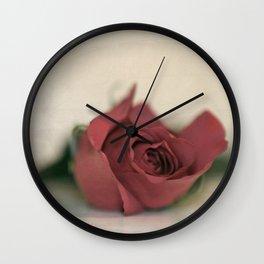Single Rose fine art photography Wall Clock