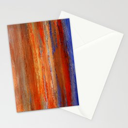 Abstract Orange and Blue 1 Stationery Cards