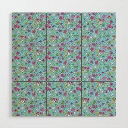 Flowers, Clovers & Diamonds Wood Wall Art