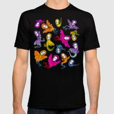 colorful hybrid witches Black MEDIUM Mens Fitted Tee