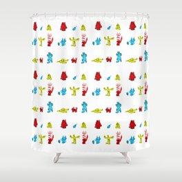A Splash of Zombie Shower Curtain