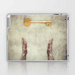golden key symbol Laptop & iPad Skin