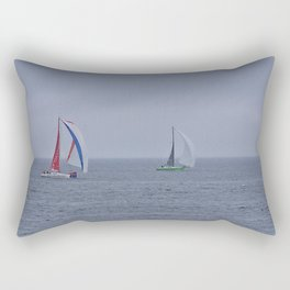 part 1 of 4 of Sailing Battle 42-56  - Transat Quebec St-Malo Rectangular Pillow