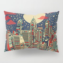 philadelphia city skyline Pillow Sham