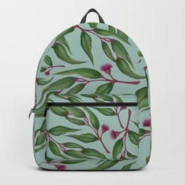 Blue Eucalyptus Pattern Backpack