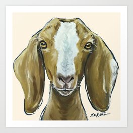 Goat Painting, Farm Animal Art Art Print