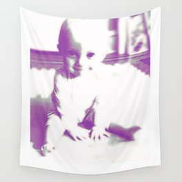 Piper's First Digital Portrait Wall Tapestry
