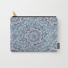Indigo Medallion with Butterflies & Daisy Chains Carry-All Pouch