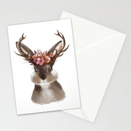 Floral Jackalope Stationery Cards