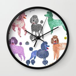 Poodles by Veronique de Jong Wall Clock