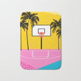 Dope - memphis retro vibes basketball sports athlete 80s throwback vintage style 1980's Bath Mat