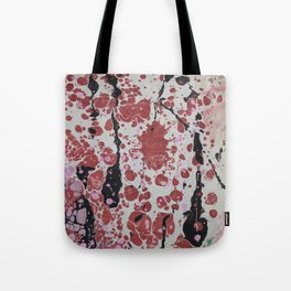 Witchy Drops marbleized print Tote Bag