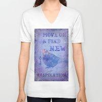 motivation V-neck T-shirts featuring Motivation by LebensART