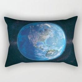 Globe: DayNight America Rectangular Pillow