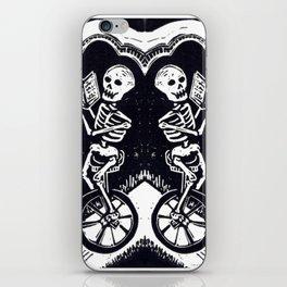 Unicycle Skeletons iPhone Skin