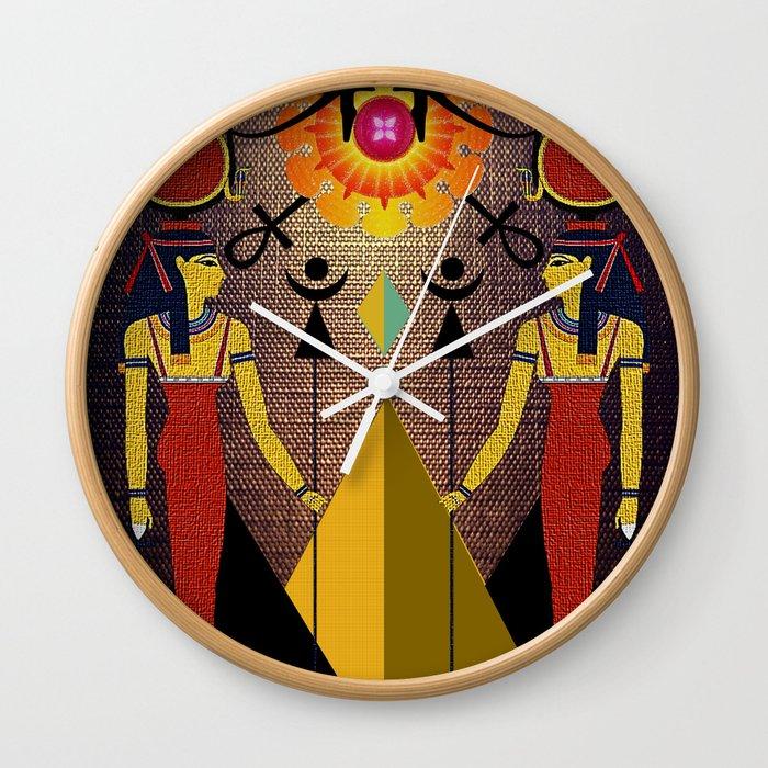 Hathor under the eyes of Ra -Egyptian Gods and Goddesses Wall Clock