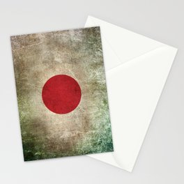 Old and Worn Distressed Vintage Flag of Japan Stationery Cards