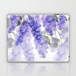 Purple Wisteria Flowers Laptop & iPad Skin