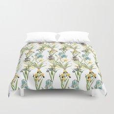 Vintage Floral Pattern | No. 2B | Iris Flowers | Irises Duvet Cover