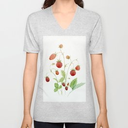 Wild Strawberries Unisex V-Neck