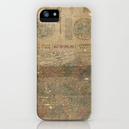 Map of Astronomy and the Qing Empire (1790) iPhone Case
