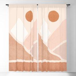 Warm Neutral mountain sun Blackout Curtain