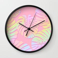 Unicorn Monstera Wall Clock