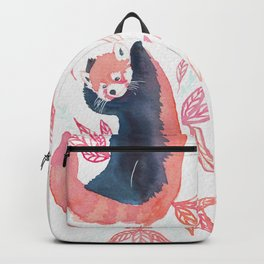Red panda joy watercolor Backpack