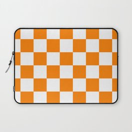 Checkered - White and Orange Laptop Sleeve