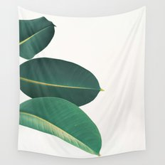 Rubber Fig Leaves II Wall Tapestry