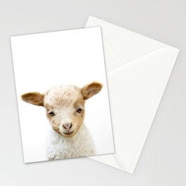 Baby Lamb Portrait Stationery Cards