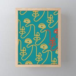 Multi Faced Mustard Framed Mini Art Print