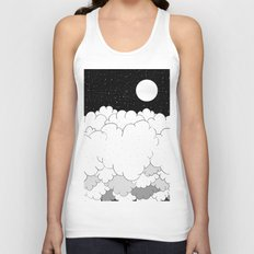 The moon and the clouds Unisex Tank Top
