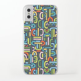 Retro Shapes Clear iPhone Case