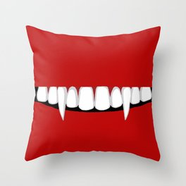 Voracious Vampire Throw Pillow