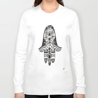 hamsa Long Sleeve T-shirts featuring hamsa by leah rose