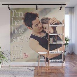 Boy and Girl Wall Mural