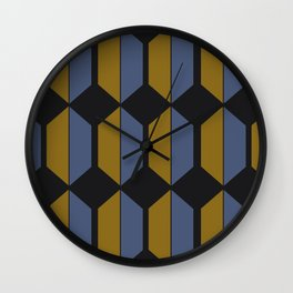 Hexagonal Pattern - Sundown Wall Clock