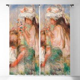 Pierre-Auguste Renoir - Girls in the Grass Arranging a Bouquet Blackout Curtain