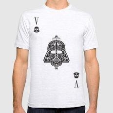 Darth Vader Card Ash Grey MEDIUM Mens Fitted Tee