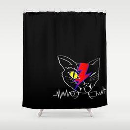FRANKEN BOWIE VAMP KITTY Shower Curtain