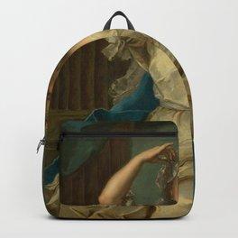 Jean-Marc Nattier - Portrait of a Lady as a Vestal Virgin Backpack
