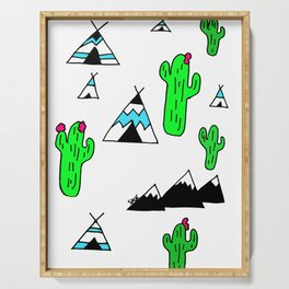 TeePee Party Serving Tray