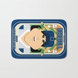Baseball Blue Pinstripes - Deuce Crackerjack - Amy version Bath Mat