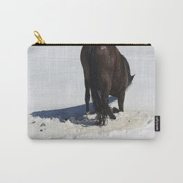 Horse in Snow Humor Carry-All Pouch