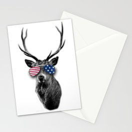 USA Patriotic independence day 4th July Buck Stationery Cards