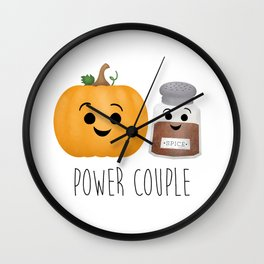 Pumpkin + Spice = Power Couple Wall Clock