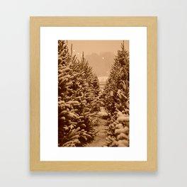 christmas trees past Framed Art Print
