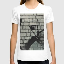 Graffiti Street Art from Original Painting by Jodi Tomer. Abstract Black and White Bricks T-shirt