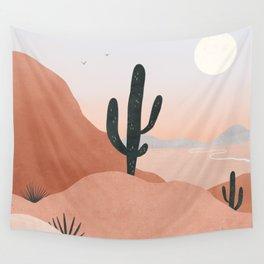 saguaro sunset Wall Tapestry